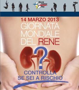 giornata mondiale del rene 2013